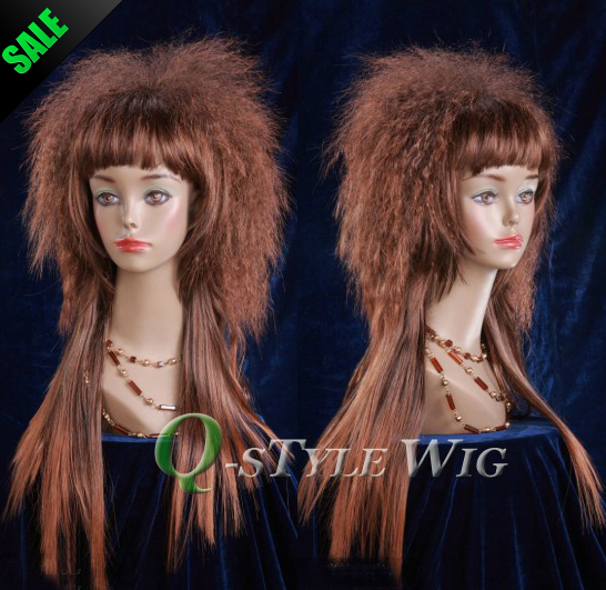 celebrity style Kanekalon Synthetic black brown 2T33 color ombre style wig kinky curl Italian Yaki coarse Hairstyle Full Wigs(China (Mainland))