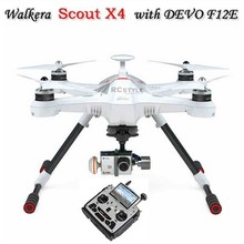 for Walkera Scout X4 GPS RC Quadcopter Devo F12E ILook+ WHITE FPV2 RTF Support Ground Station F10495(China (Mainland))