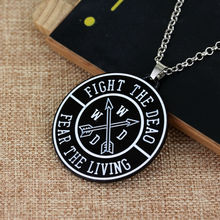 The Walking Dead Necklace with Round Pendant Alloy Letter