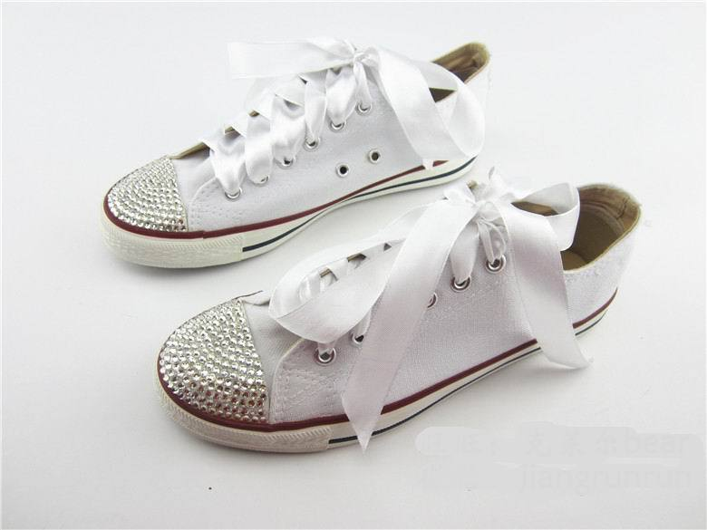 2015 new fashion casual sneakers canvas flat shoes diamond women shoes crystals zapatos mujer chaussure femme(China (Mainland))