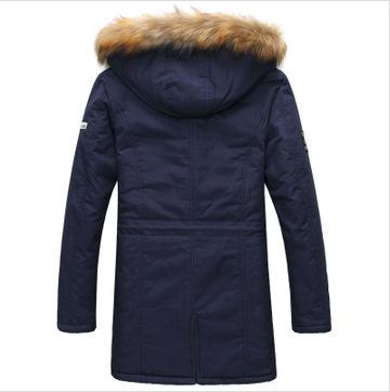 2015 New Arrival Fashion Men s Parka Revestimentos Hooded Fur Long Chaqueta Invierno Hombre Thick Mens