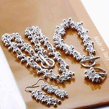 925 ювелирных изделий из серебра серебро лето винограда мяч, Серебряное ожерелье браслет крюк серьги кольцо S330(China (Mainland))