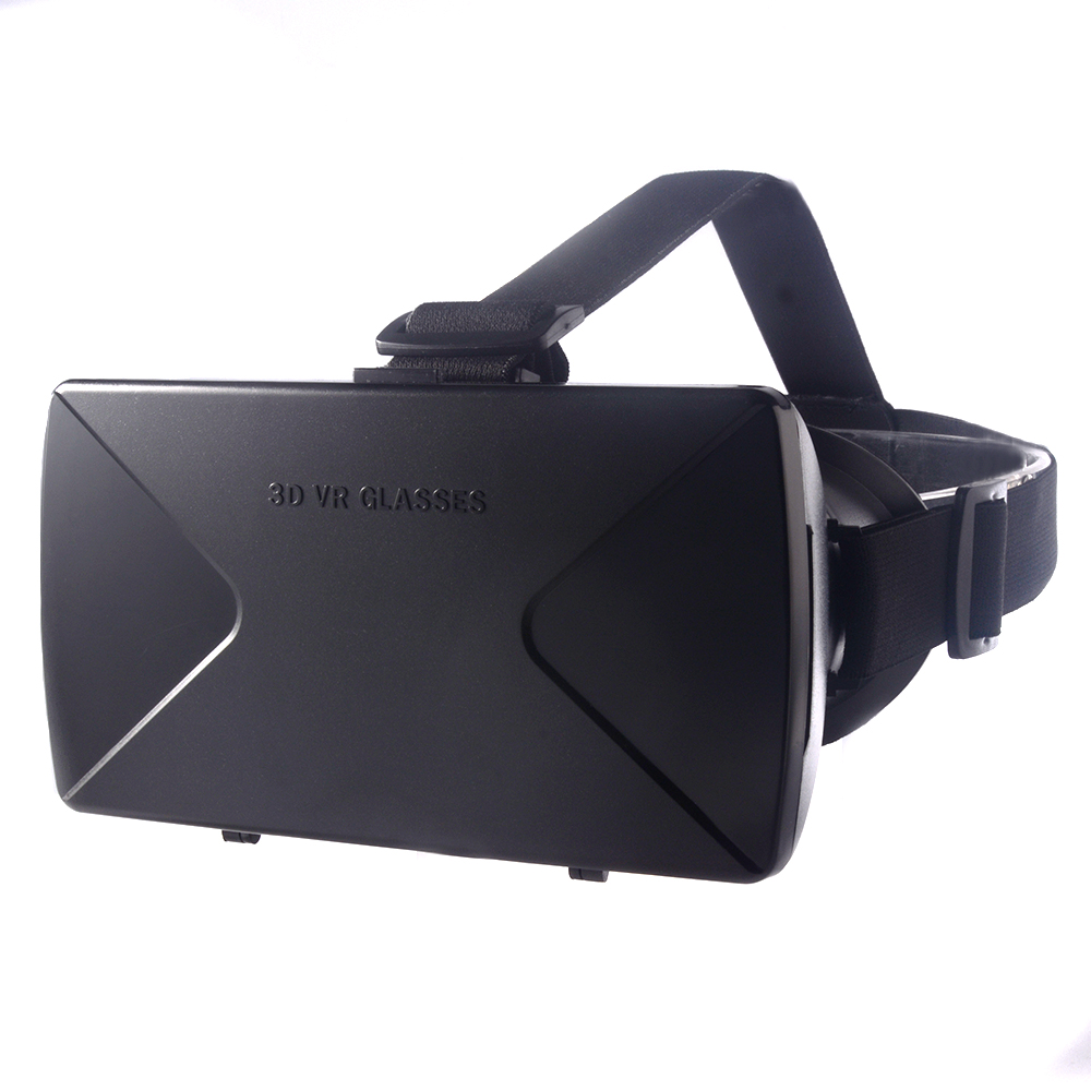 Head Mounted ABS Virtual Reality VR Box 3D Video Game Movie Helmet Glasses for 3.5 - 6.0 inch for Android/IOS Smart Phone AC320(China (Mainland))