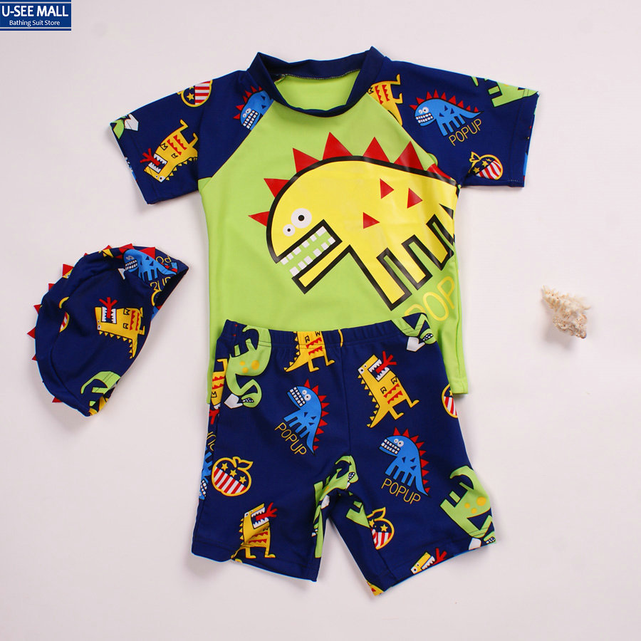 Brand 2014 new summer dinosaur pattern bathing suit for the boy baby kids swimsuit lovely swimwear kids,wholesale,free shipping