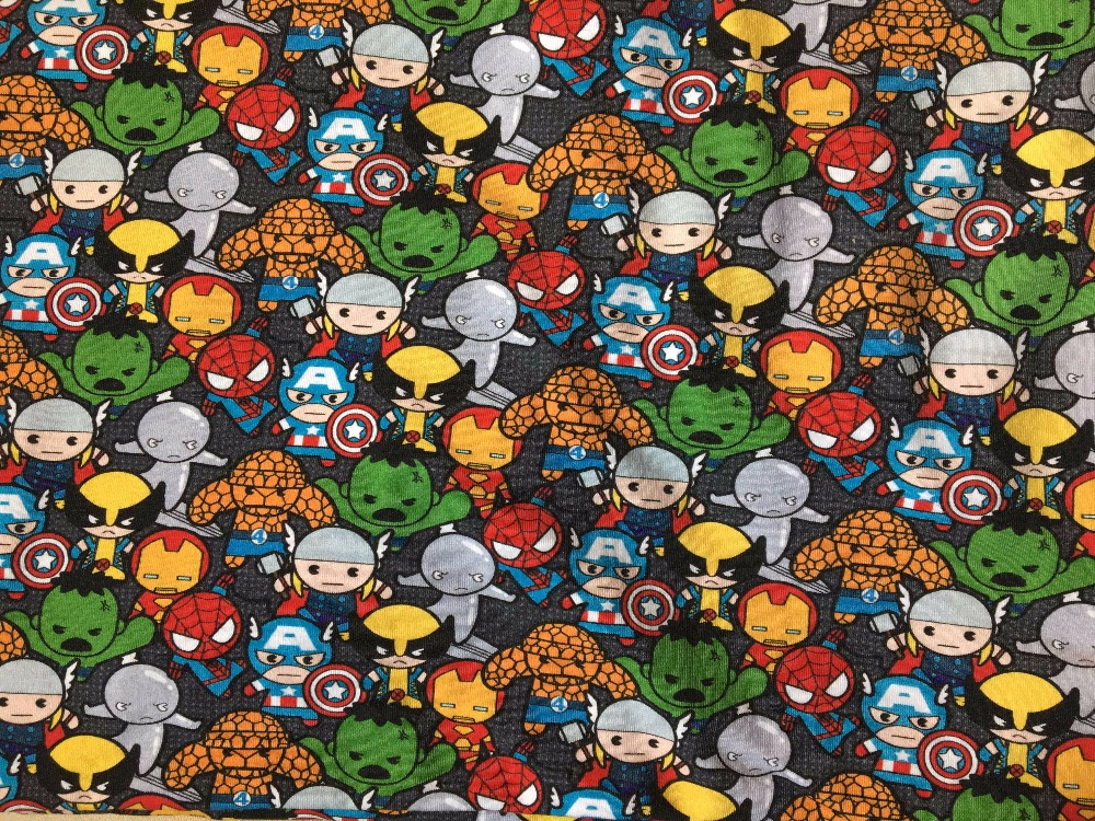 8 characters knitted printed cotton fabric make clothes for kids, DIY handmade materials(China (Mainland))
