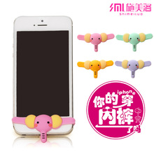 wholesale anime elephant underwear power button sticker for samsung iphone6 ks home keyboard smart pants undies button for phone(China (Mainland))
