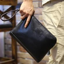 Новый 2015 мода отдыха мужской кошелек искусственная кожа высокое качество молния бизнес кошельки мужской клатч черный небольшой мешок руки