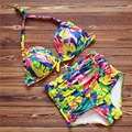 The new fashion selling 2016 split type gradually sexy bikini swimsuit color shells