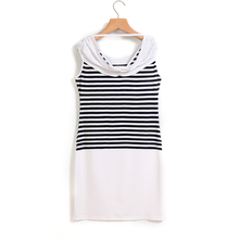 New 2015 summer arrival women s casual clothes hot sale women dress sleeveless round neck striped