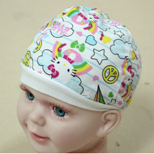 1 X Cute Cotton Baby Boys Girls Cap Hat for Infant Newborn Kids Color Random(China (Mainland))