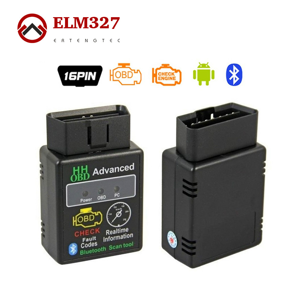 HH OBD MINI ELM327 V2.1 Bluetooth ELM 327 OBD2 OBDII Car CAN Wireless Adapter Scanner TORQUE ANDROID(China (Mainland))