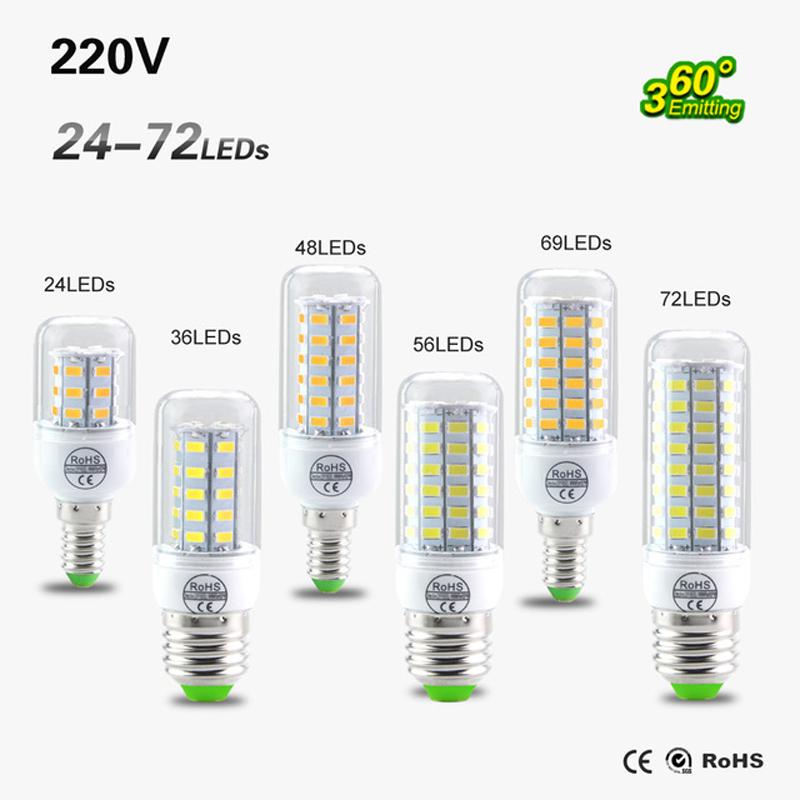 SMD 5730 E27 E14 LED Lamp 5730SMD LED Lights Corn Led Bulb 24 36 48 56 69 72Leds Chandelier Candle Lighting Home Decoration<br><br>Aliexpress