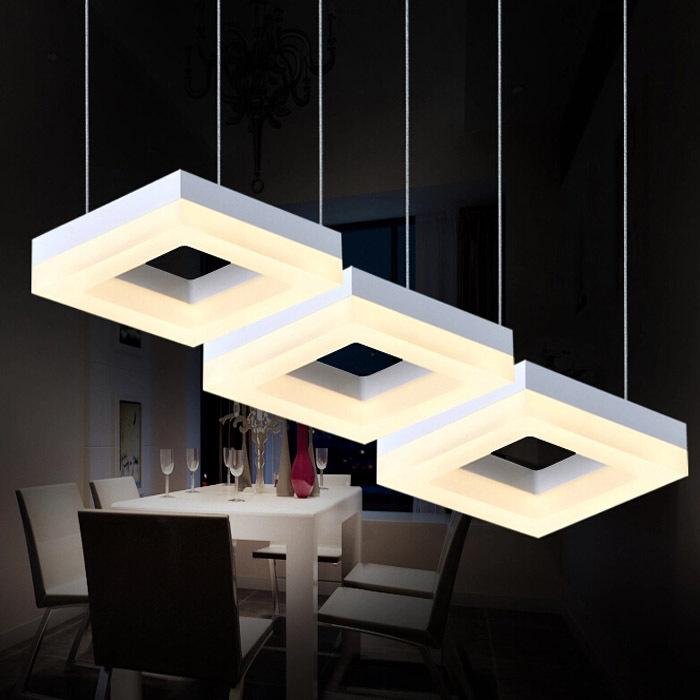 27W Dining Room Square Pendant Light Led Living Room