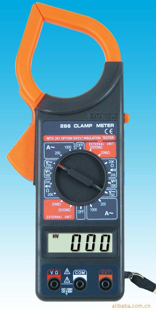AC DC DT266 Clamp Meter Clamp Digital Multimeter