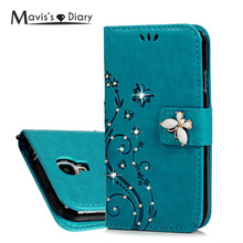 Buy MAVISSDIARY Leather Case Samsung galaxy S4 Luxury Bling Crystal Diamond Wallet Case Flip Cover Samsung S4 i9500 i9505 for $3.22 in AliExpress store