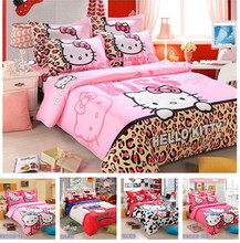 3pcs Home Textiles Bedclothes,Child Cartoon Pattern,Hello Kitty Bedding Set Include Duvet Cover Bed Sheet Pillowcase Sets(China (Mainland))