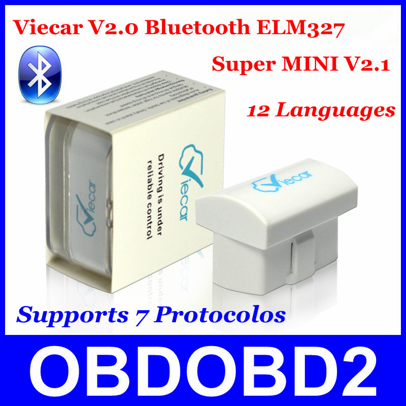 2015 New Arrival Viecar 2.0 Bluetooth Latest Version V2.1 Supports 7 Protocols Works Android/Symbian/PC OBDII CAN-BUS ELM327(China (Mainland))