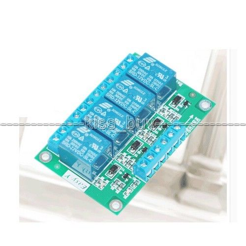 12V 4 Channel Relay Module switch Controller For Arduino SCM, PLC LIGHT control<br><br>Aliexpress