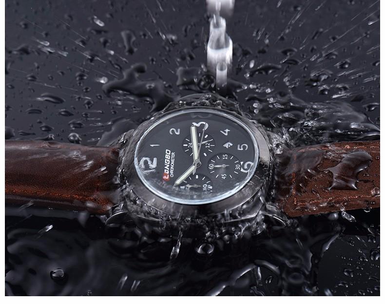 Relogio Masculino мужской свободного покроя часы мужчины часы LONGBO бренд класса люкс дата водостотьким хронограф военно-спортивный наручные часы 80180