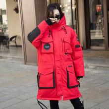 90% белый пуховик для мужчин и женщин Высокое качество теплая длинная модная зимняя повседневная куртка мужская женская парка пальто NO950(China)