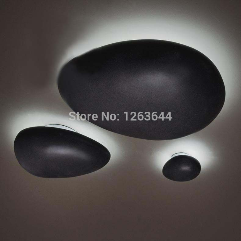New Black Oval Resin Lamp Europe Dinning Room Ceiling Light Cobblestone Design LED Ceiling Light for Loft Kitchen<br><br>Aliexpress