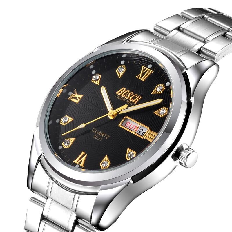New fashion luxury quartz BO-3011 brand male form, precise calendar waterproof business watch, stay the best choice(China (Mainland))