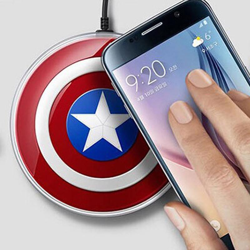 QI Standard Wireless Charger Pad Emitter Samsung Galaxy S6/S6 Edge Google Nexus 5 Lumia 920 Captain Shield Charging - Sor E-commerce store