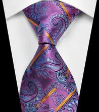 NT0366 Purple Blue Multicolor Paisley Mans New Fashion Jacquard Woven Silk Polyester Tie Classic Business Party Wedding  Necktie