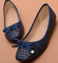 2013 Hot's Best selling bow flat shoes large size shoes with a knitted uppers soft bottom flats heels for women size 35-41(China (Mainland))