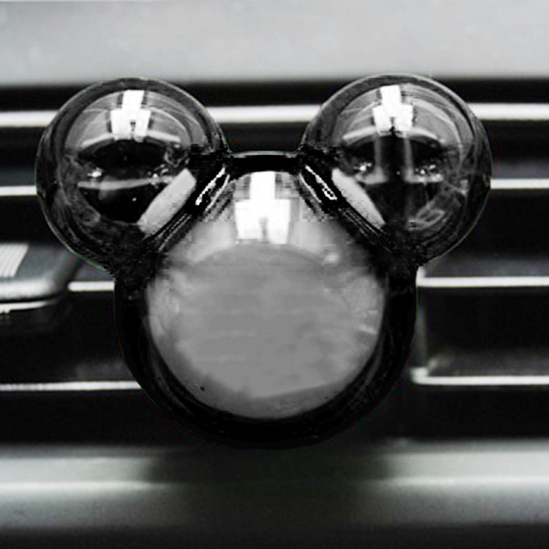 1 pair Car Perfume Air Freshener Micky Mouse Head Cute Diffuser Outlet Fragrance(China (Mainland))