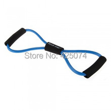 Free Shipping 10pcs Figure 8 Type Resistance Band Exercise Tube Yoga Blue