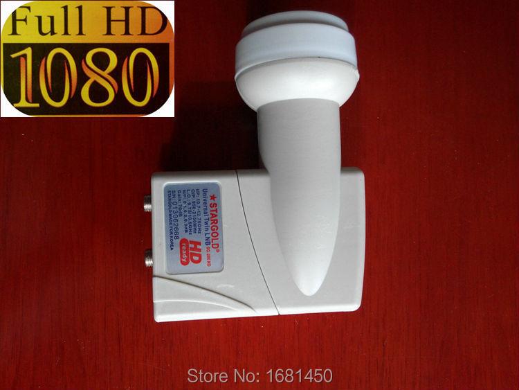 5pcs/lot Dual KU Band LNB,9.75/10.6GHz,0.1db KU Band Full HD 1080P TWIN LNB SG-200HD for tv box Digital satellite receiver DVB(China (Mainland))