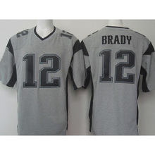 TOP-quality Men's 11 Julian 12 Tom 87 Rob Brady Adult Edelman Rob Gronkowski Gray Gridiron Gray Limited Free Shipping(China (Mainland))
