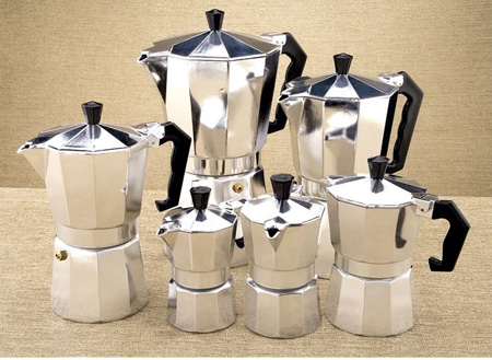 1pc Aluminum moka pot Bialetti style 1-12 cups espresso maker coffee pot for gas stove cookern for barista(China (Mainland))