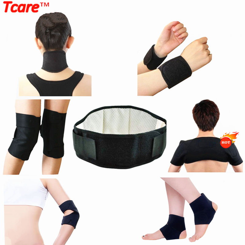 Tcare Self Heating Tourmaline Set Magnetic Tourmalin Massage Waist Belt Knee Elbow Wrist Ankle Neck Shoulder Support 11 Pcs/Set(China (Mainland))