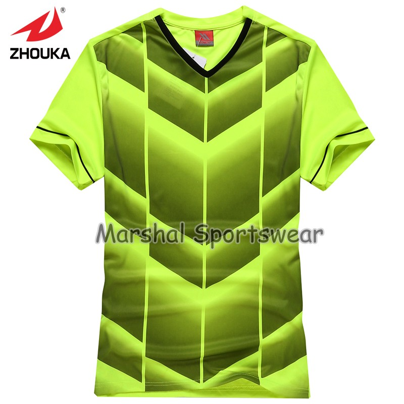 2016 Hot sale design in top quality,football jersey,kids size,in stock,green color(China (Mainland))
