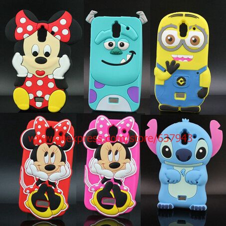 Cartoon Sulley Hello Kitty Stitch Minnie Mouse Design Silicone Soft Cell Phone Case Cover For Huawei Y3 Y3C Y336 Case Cover(China (Mainland))