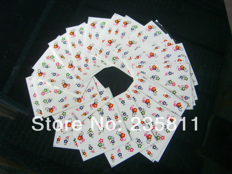 10/ LOT SY Nail Art Water Transfers Stickers Decals Sticker Decal Opp Sleeve Packing package 385-860 - Jenny's nail beauty store