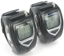 Pair Digital Mobile Two Way Radio Intercom Watch Walkie Talkie Watch Backlit LCD,Wrist Watch Dual Band Interphone Transceiver