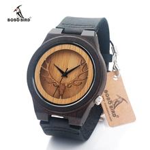 4.5CM Top Luxury Brand BOBO BIRD Watches Men Leather Strap Wooden Quartz-watch Hollow Design Dial Clock Man relogio masculino