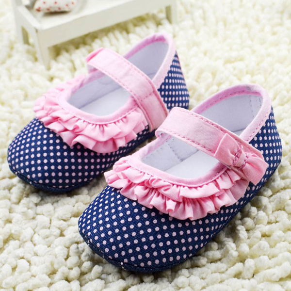 Infant Girl Dot Baby Princess Shoes Soft Sole Toddler Anti-slip Crib 0-18M - STARKING store