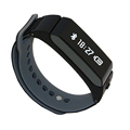 New Design Pedometer Bracelet Bluetooth Headset Bracelet Sport Tester Bluetooth Controller Cell Phone Wristband Message Reminder