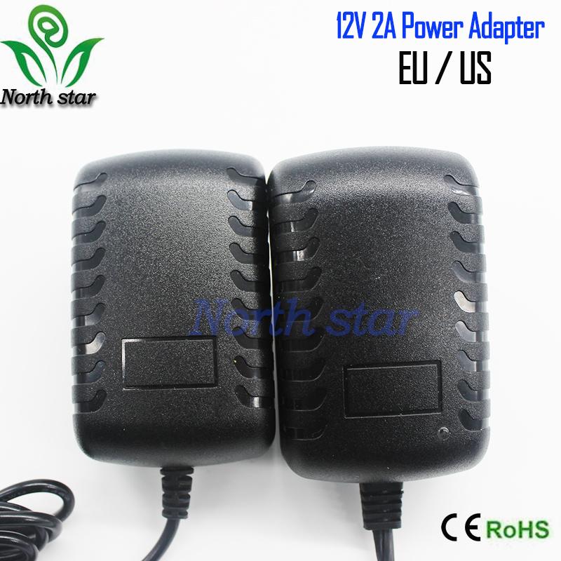 New AC100V - 240V To DC 12V 2A 24W LightIng Transformer Switch Power Supply Charger Adapter For RGB LED Strip 5050 3528 EU Plug(China (Mainland))