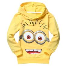 Brand boys hoodies despicable me minion children sweatshirts 2-10 years kids clothes fashion boys girls clothing kids jackets(China (Mainland))