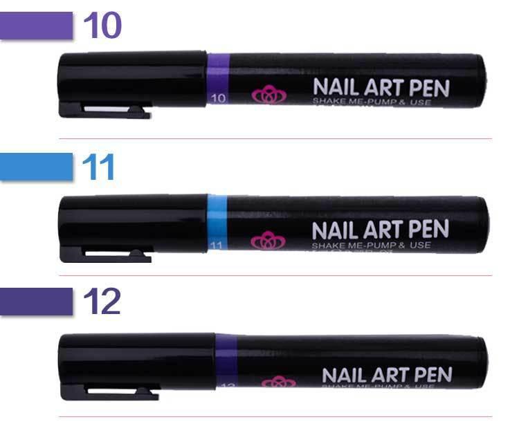 16 Colors Nail Art Pen for 3D Nail Art DIY Decoration Nail Polish Pen Set 3D Design Nail Beauty Tools Paint Pens  E10080