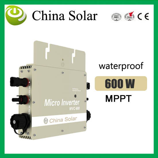 600W Solar Micro Inverter Grid Tie With Monitering Function For PV Grid System wvc-600w(China (Mainland))