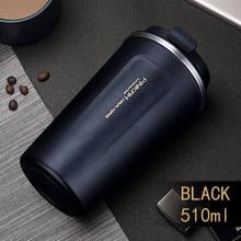 Venda quente 380 & 500ml 304 aço inoxidável copo thermo caneca de café viagem com tampa garrafa de água do carro garrafas de vácuo thermocup para o presente(China)