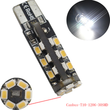Buy YM E-Bright 10-50-200Pcs T10 1206 30 SMD Canbus Error Free LED Light Car Signal Light Side Marker Light for $10.18 in AliExpress store