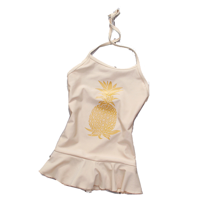 Pineapple Print Girls Swimwears One Pieces Cute Kids Bathing Suits Swimsuits Toddlers Swimmer T2DTBO - Sunny1978 Store store