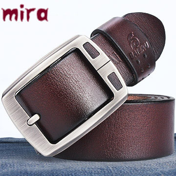 100% cowhide genuine leather belts for men BAIEKU brand Strap male pin buckle vintage jeans cowboy Cinto Masculino Casual belt(China (Mainland))